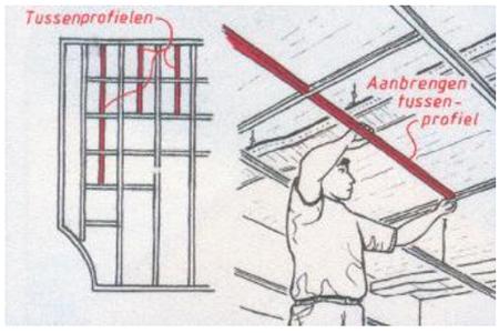 monteren systeemplafonds stap 10