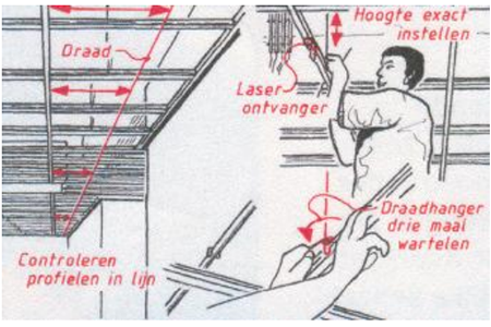 monteren systeemplafonds stap 11