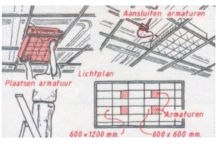monteren systeemplafonds stap 13