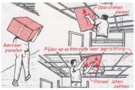 monteren systeemplafonds stap 14