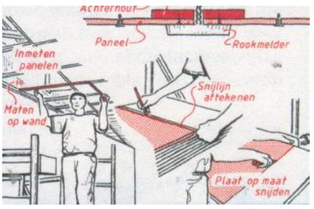monteren systeemplafonds stap 15