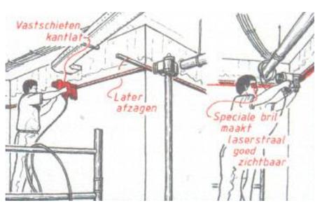 monteren systeemplafonds stap 3