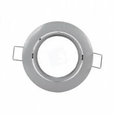 Led spot frame kantelbaar kleur zilver