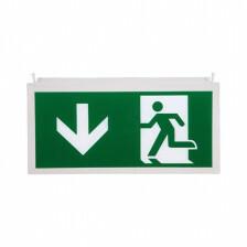 Noodverlichting pictogram D man pijl beneden