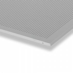Geperforeerde plafondplaat 600x600 mm grijs