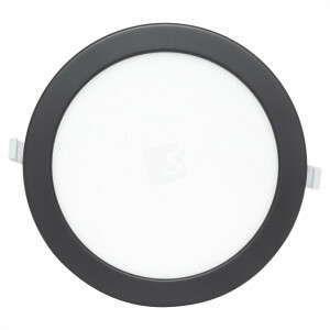 LED downlight 20 watt, rond 240 mm, 4000K, zwarte rand