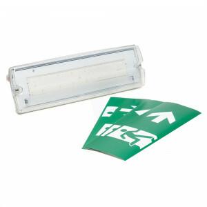 Noodverlichting wandopbouw LED 3 watt inclusief pictogrammen