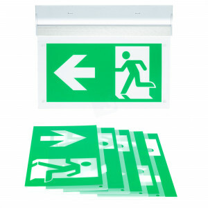 Noodverlichting opbouw wand of plafond LED 3 watt inclusief pictogrammen