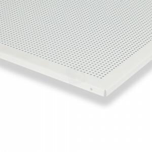 Geperforeerde plafondplaat wit 600x600 mm