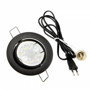 LED spot compleet, RGB en CCT 4 Watt, Frame zwart