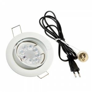LED spot systeemplafond compleet, RGBW-CCT 4 Watt, Frame wit