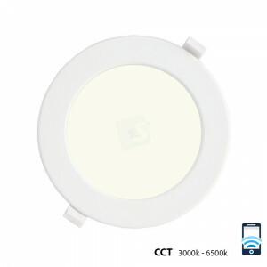 LED downlight 12 watt, WiFi CCT 3000-6500 kelvin, rond 170 mm