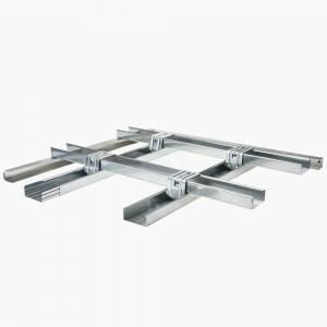 Metal stud stuc plafond  2 x frame /  Stucplaat P RK 600