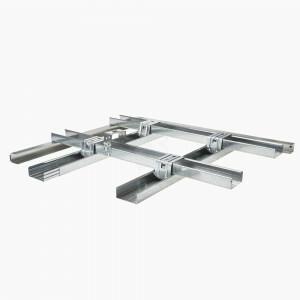 Metal stud plafond  2x frame/ 4xAK gipsplaat 1200  /isolatie