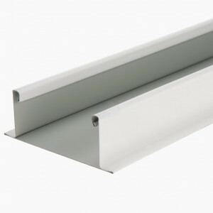 Bandraster profiel breed 75 mm wit niet gesleufd