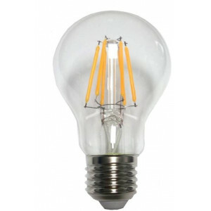 LED lamp 6 watt, voor E27 fitting, filament model A60, 2700 kelvin