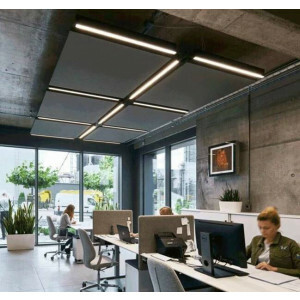 LED pendelarmatuur voor plafondeilanden, 3000K, 4450 lumen, kleur wit