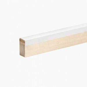 Kantlat wit 1 lengte van 295 cm