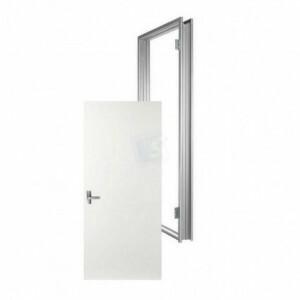 Metal stud deurkozijn + opdek deur R  afm 2115x880x100