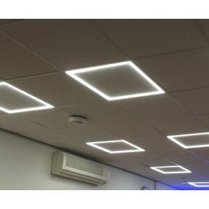 LED paneel hollow 60x60, 3000 kelvin, compleet voor T-24 systeem