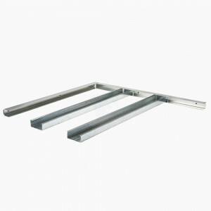 Metal stud plafond 1 x frame /  2xAK gipsplaat 600