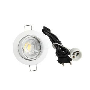 LED spot compleet, 2700K 5 Watt, Frame wit