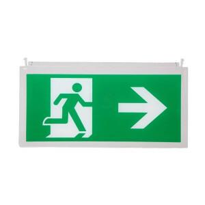 Noodverlichting pictogram B man pijl rechts