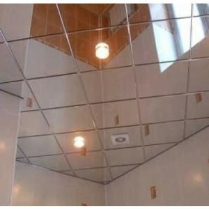 Spiegel plafondplaat zilver 600x600 mm