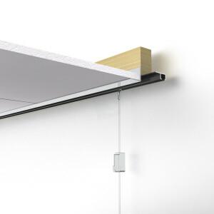 Schilderij rail compleet set 600 cm wit basic voor 4 schilderijen