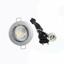 LED spot compleet, 2700K dimbaar 5 Watt, Frame zilver
