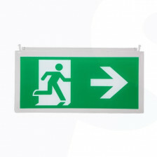 Noodverlichting pictogram B man pijl rechts/links